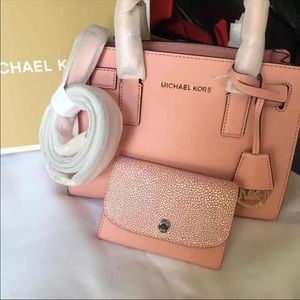 Mk pale pink purse and wallet
